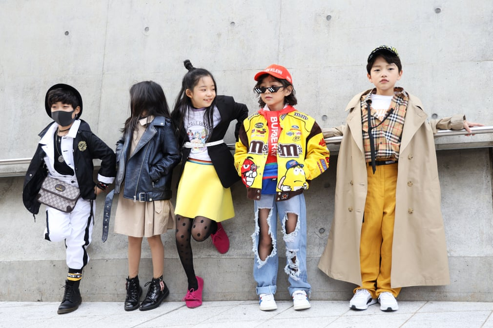 Children wait for an event during Seoul fashion week 2019, Seoul, South Korea. (Getty Images)