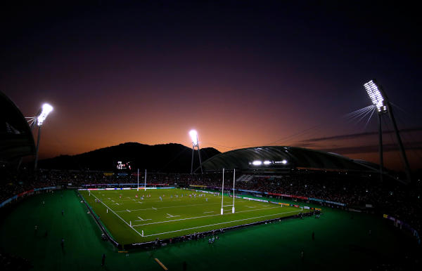 Rugby Union - Rugby World Cup 2019 - Pool D - Wales v Uruguay - Kumamoto Stadium, Kumamoto, Japan - October 13, 2019. General view during the match REUTERS/Peter Cziborra