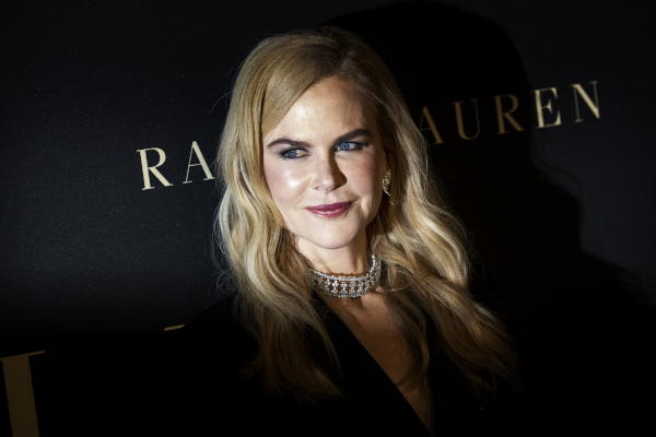 Australian-American actress Nicole Kidman poses on the red carpet during the 26th Annual ELLE Women in Hollywood Celebration, Beverly Hills, California, USA, 14 October 2019. (EPA)