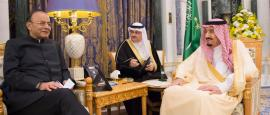 King Salman Meets in Riyadh with Indian, Swiss Finance Ministers