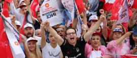 Erdogan Trudges after Rallying Supporters on Eve of Heated Elections