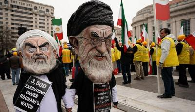 Iran Opposition Protests in Washington for Regime Change