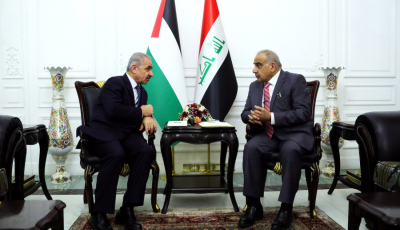Iraq PM Receives Palestinian Counterpart, Rejects 'Deal of Century'