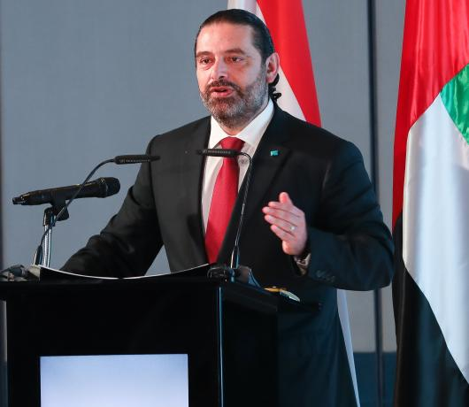 Hariri Says Lebanese Govt Rejects Any Hostile Activity against Gulf States