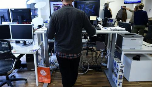 Study: Standing While Working Better for Health