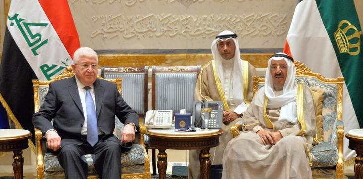 Emir of Kuwait Holds Talks with Visiting Iraq President