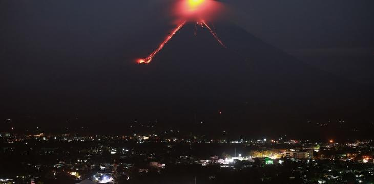 Thousands Evacuated as Philippine Volcano Spews Ash, Lava