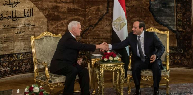 Pence Arrives in Egypt, First Stop of Mideast Tour