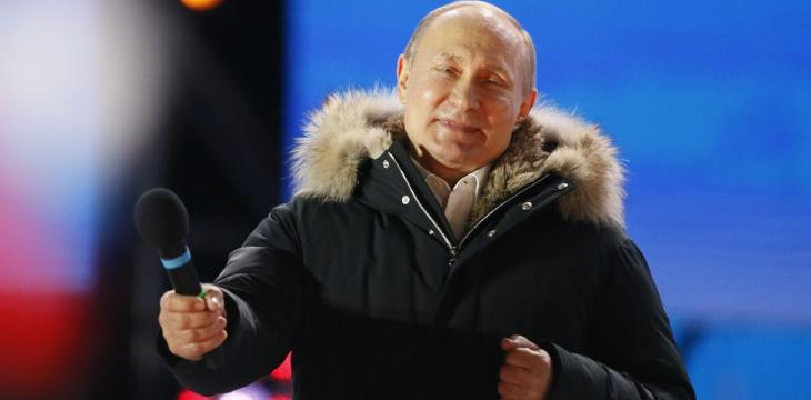 Putin Claims Landslide Victory to Earn Fourth Term in Office