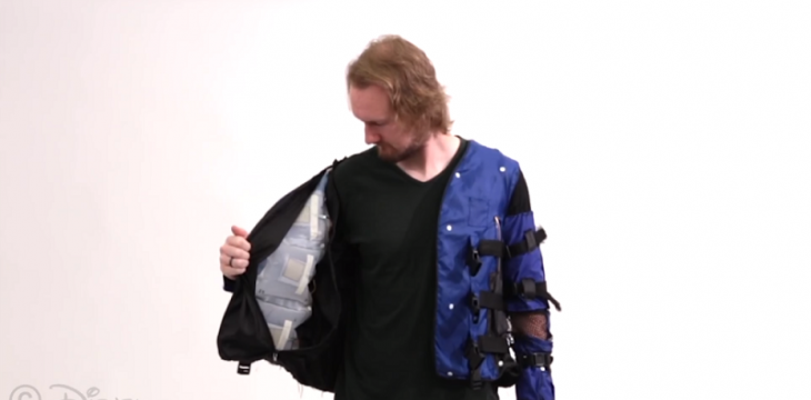 Disney Unveils a Prototype Virtual-Reality Jacket to Simulate Hugs, Punches and a Snake Slithering Across Your Body