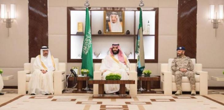 Crown Prince Receives Senior Commanders, Defense Ministry Officials