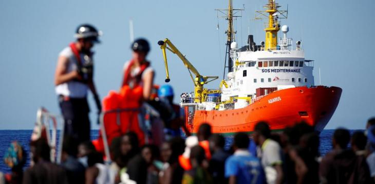 Migrant Ship at Heart of European Row Docks in Spain