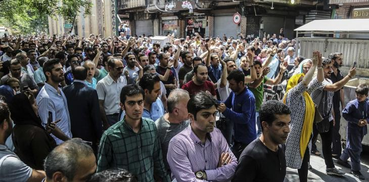 Demonstrators Take to Tehran Streets to Protest Deteriorating Economy