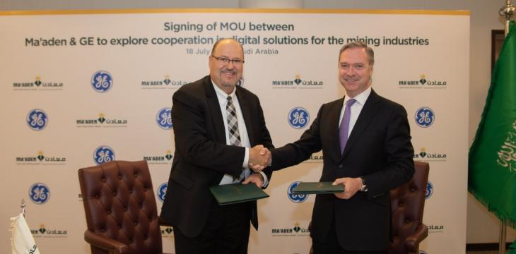Saudi Arabia's Maaden Signs MoU with GE on Digital Solutions