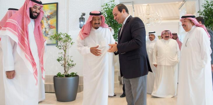 King Salman Receives Egyptian President at NEOM
