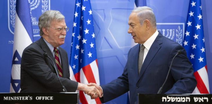 Netanyahu, Bolton Adamant in Stopping Iranian Support to 'Hezbollah'