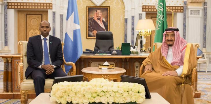 Saudi King Receives Somali PM, Egyptian Justice Minister