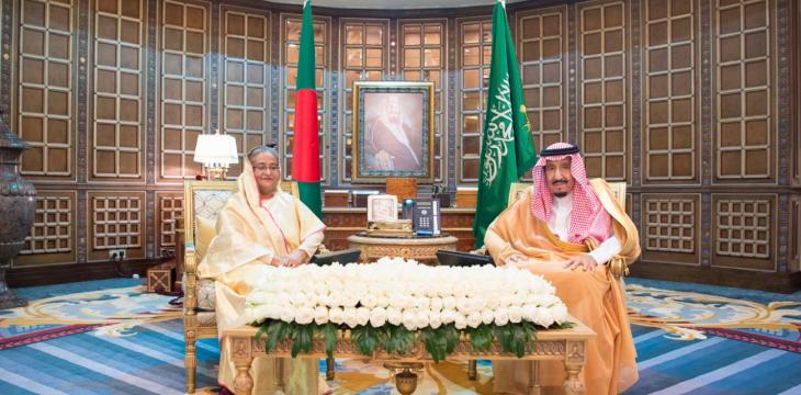 Saudi King, Crown Prince Hold Talks with Bangladesh PM