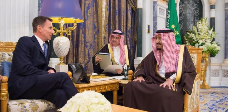 Saudi King Receives British FM