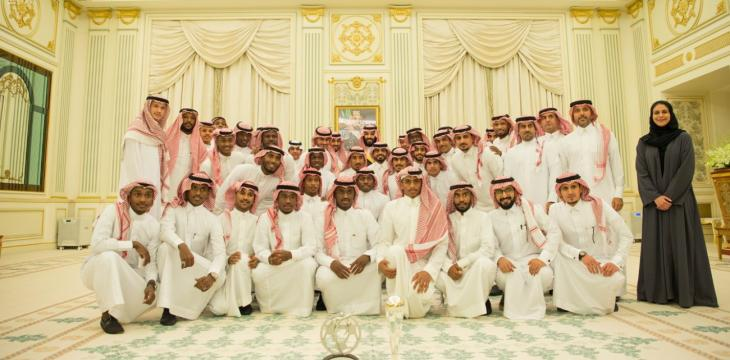 Crown Prince Receives Saudi Youth Football National Team