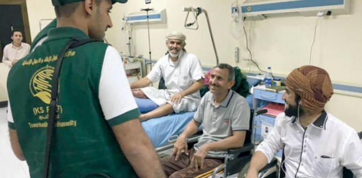 Saudi Aid Helps over 21,000 Ailed Yemenis, Wounded Army Veterans