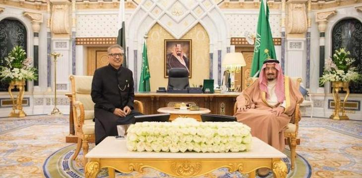 Custodian of the Two Holy Mosques Receives Pakistan's President