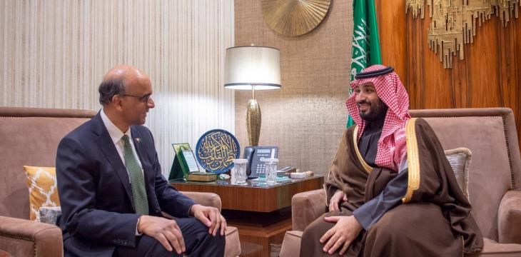 Saudi Crown Prince Holds Talks with Singaporean Deputy PM