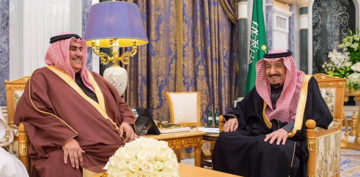 King Salman Receives Bahrain's Foreign Minister
