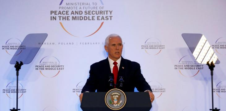 Pence Condemns Iran for 'Evil' Inflicted on Middle East
