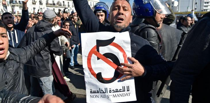 Thousands of Algerians Protest against Bouteflika's Run for Reelection
