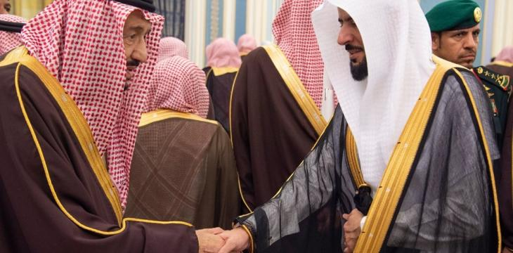 King Salman Receives the Kingdom's Grand Mufti in Riyadh
