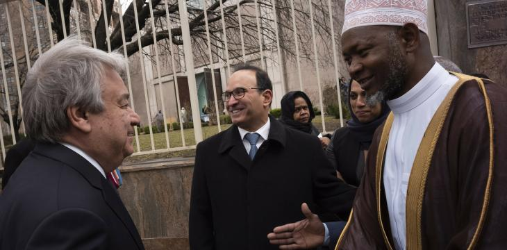 Guterres Visits Mosque, Pledges to Help Protect Religious Sites