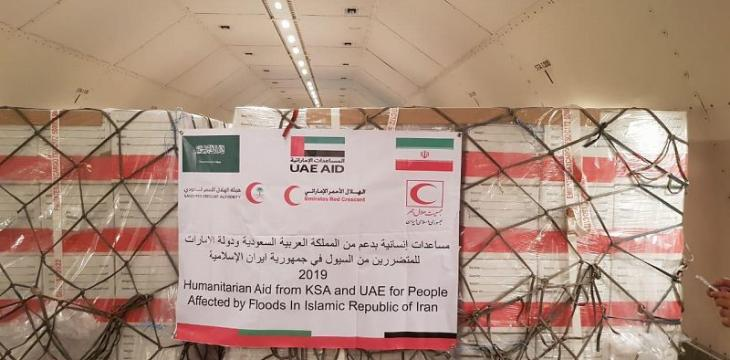 Saudi-UAE Red Crescent Authorities Jointly Dispatch Relief Plane to Iran
