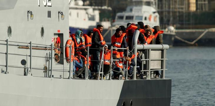Boat with Arab Migrants Reaches Italy's Lampedusa