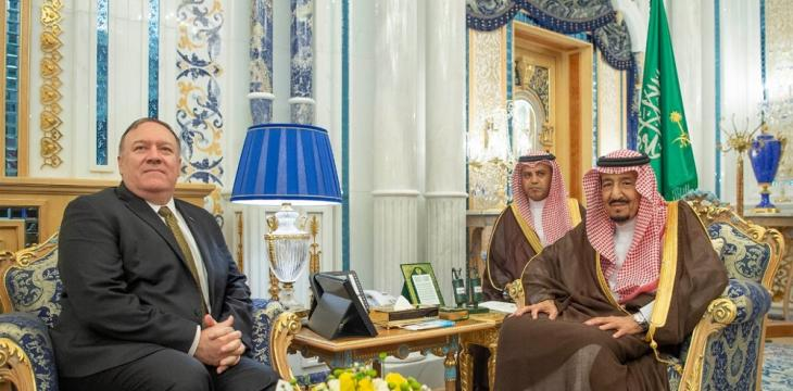 King Salman Receives Pompeo amid US Efforts to De-Escalate Tensions with Iran