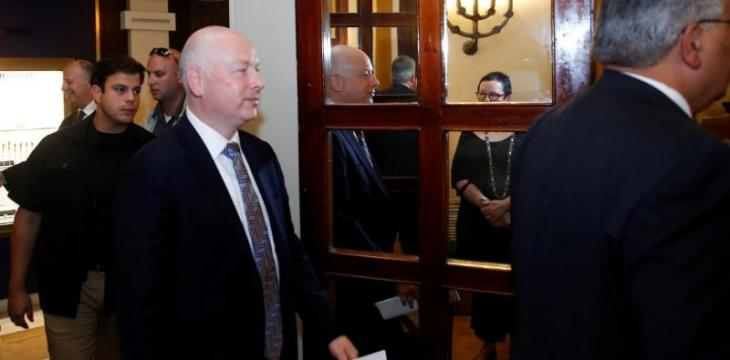 Greenblatt in Israel to Discuss the Announcement of Century Deal