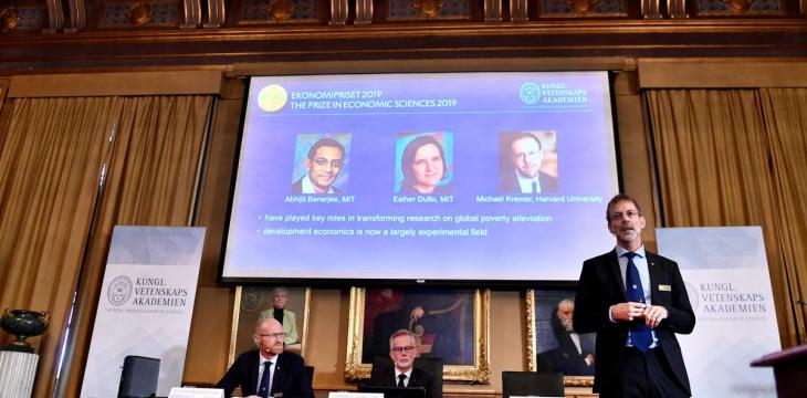 Trio, Including Couple, Win Nobel Economics Prize for Work on Poverty