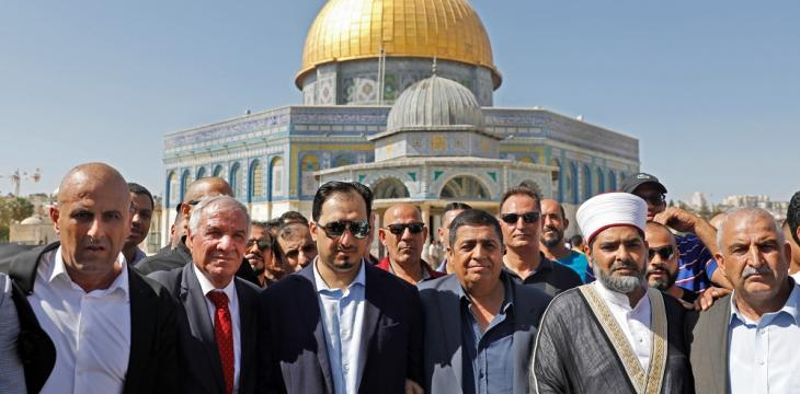 Saudi Football Delegation Visits Jerusalem's Al-Aqsa