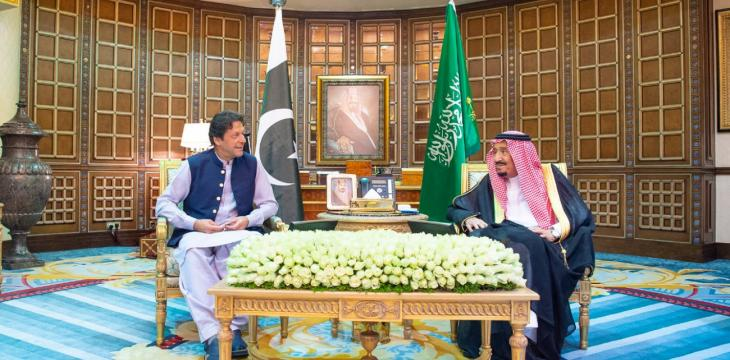 Saudi King Receives Pakistan's PM in Riyadh
