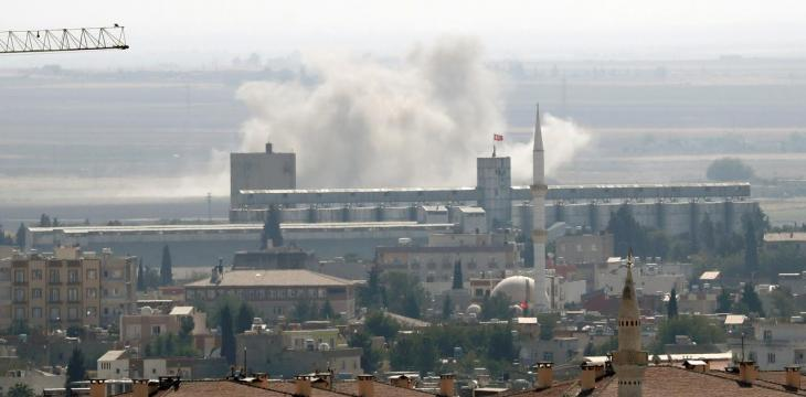 Turkish Families Flee Kurdish Mortars