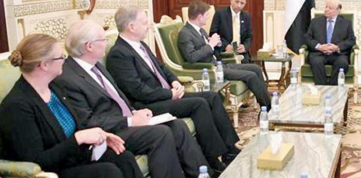 US Delegation, Hadi Discuss Iranian Interference, Counter-terrorism