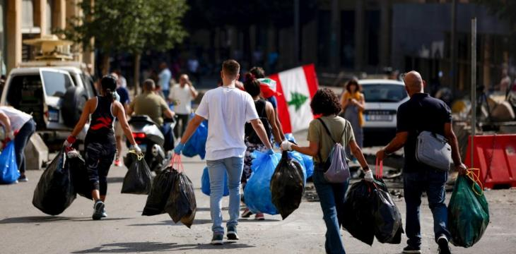 Lebanon's Protests: Cleaning in the Morning and Partying at Night