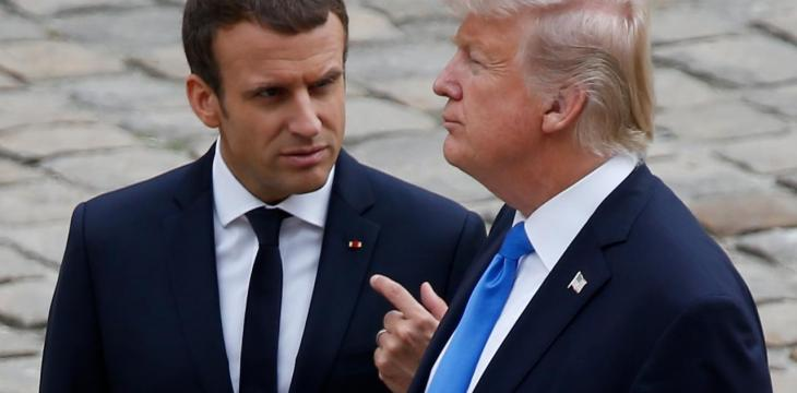 Trump, Macron Discuss Syria, Iran by Phone