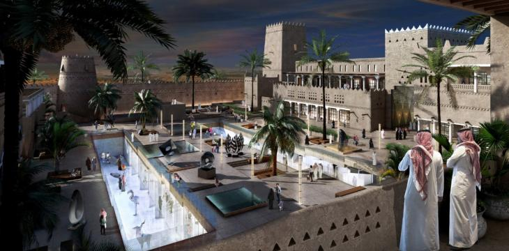 King Salman Presides over Laying of Foundation Stone of Diriyah Gate