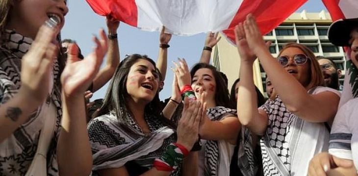 Young Lebanese Protesters Demand Better Future -- at Home