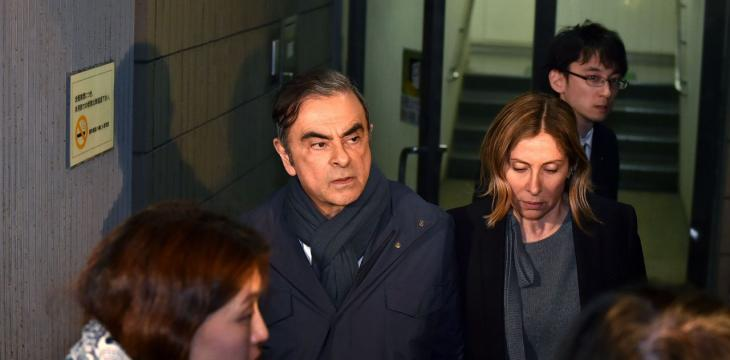 Japan Court Allows Bailed Ghosn to Speak to Wife