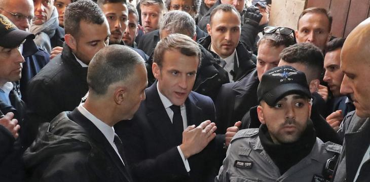 Macron Loses Cool with Israeli Security in 'Chirac Moment'
