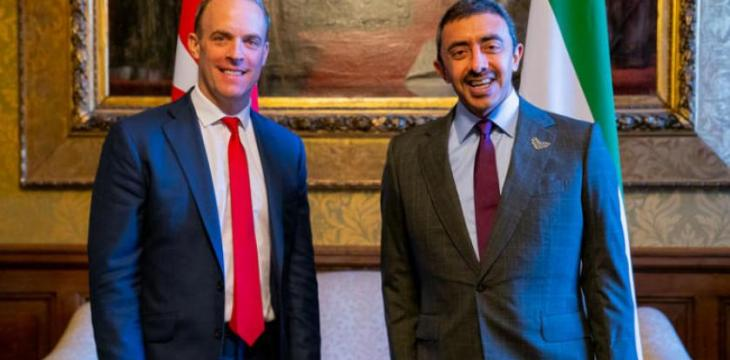 Abdullah bin Zayed, UK Foreign Secretary Discuss Regional Issues