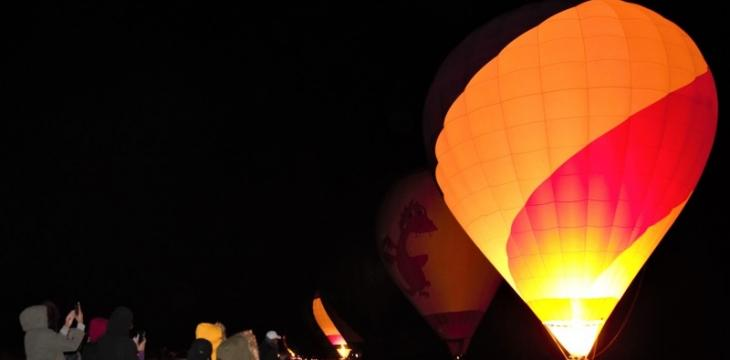 Saudi Al-Ula Celebrates Guinness World Record For Longest Hot Air Balloon Glow Show