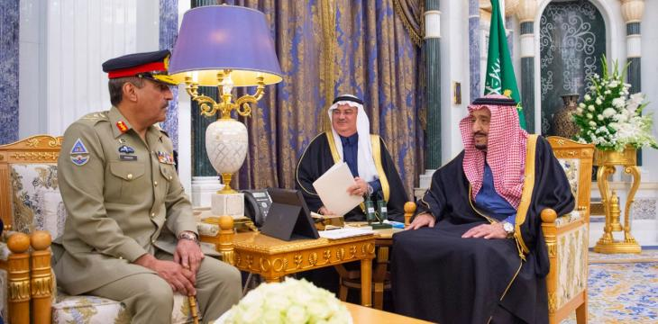 Saudi King Receives Pakistani Chairman of Joint Chiefs of Staff Committee